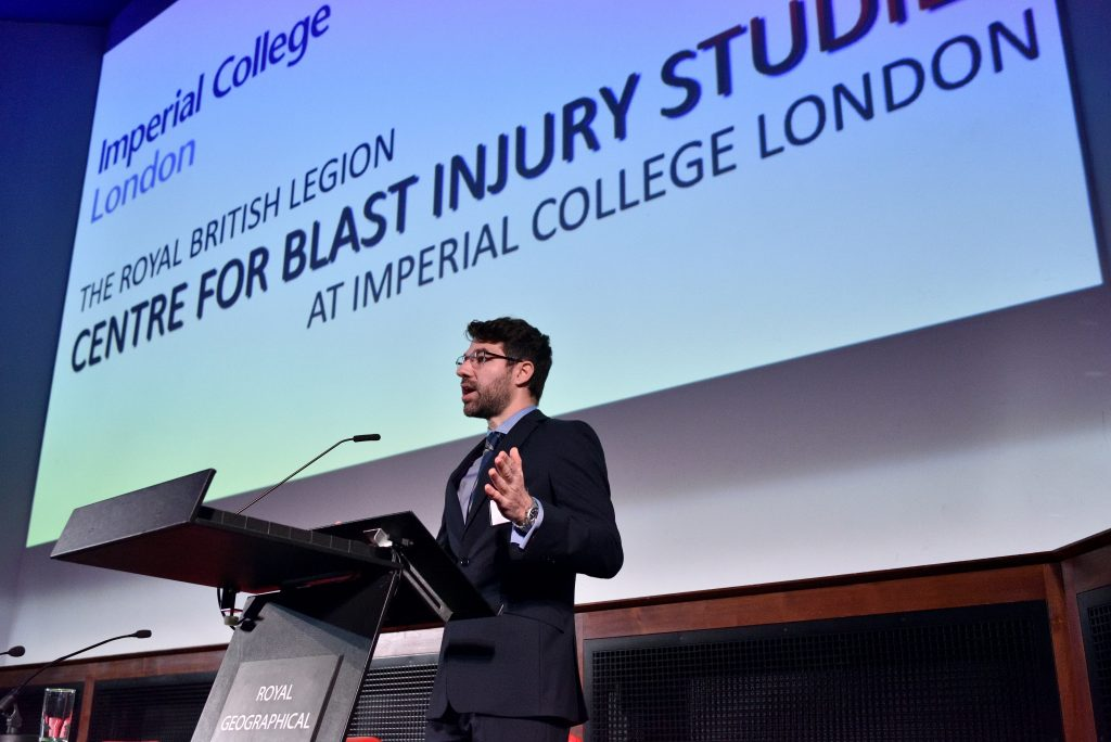 Dr Spyros Masouros,  Senior Lecturer in Trauma Biomechanics, welcomes delegates with an opening speech.
