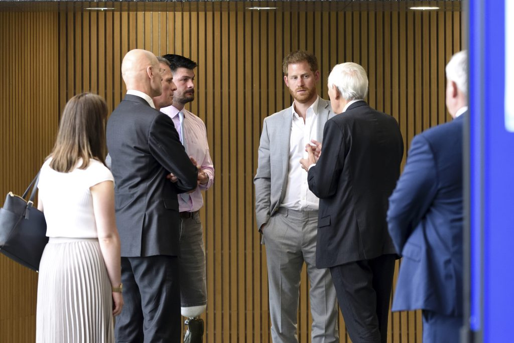 Lord Boyce, Anthony Bull, Ian Walmsley and David Henson talk with The Duke.