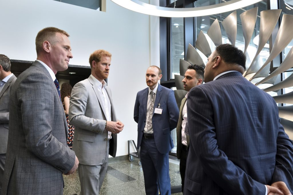 The Duke of Sussex met with some of the Centre's researchers and discussed their work.